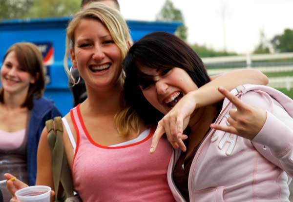 Local twin sisters from Cloverdale celebrate their birthday at Cram Jam 2008. (Alicia-Rae Light photo)