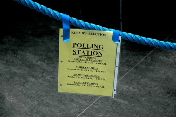 Langley will be the last campus to cast votes on Thursday. (Joseph Gloria photo)