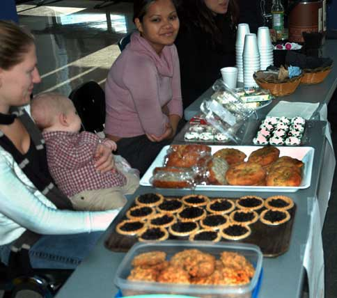 PR students aren/'t the only ones raising funds by selling baked goods. Students involved in Kwantlen/'s Student Parent Program raised funds to support a local family in need for Christmas. The bake sale was held at the Richmond Kwantlen Campus' rotunda on Tuesday. (Keira Simmons photo)