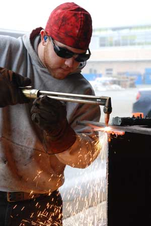 Welding students learn more than just technical skills at the Cloverdale campus. (Nathalie Heiberg-Harrison photo)