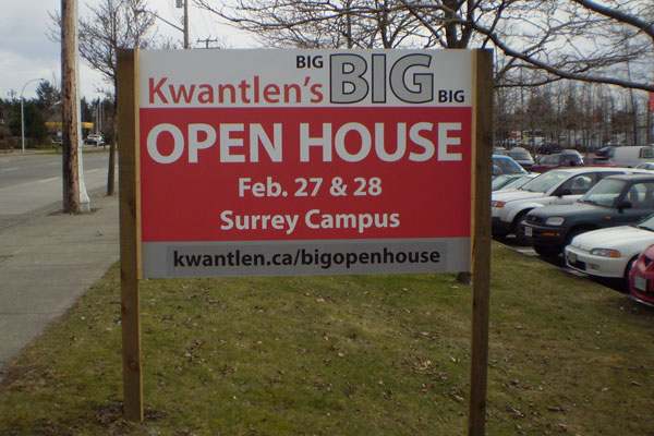 The Big Big Open House, held at Kwantlen's Surrey campus, was advertised with much fanfare.