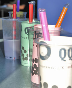 Cups ready to be filled with bubble tea. (Sandy Buemann photo)