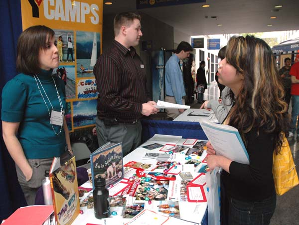 The YMCA was one of the many employers that visited the Richmond campus for Career Day, looking for students interested in both full-time and volunteer positions.