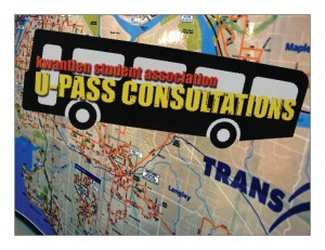 This week a series of U-Pass consultations wrapped up on the Richmond campus. The KSA will return to Richmond next week for another round, eventually concluding in Cloverdale and Langley. (Kyle Vinoy photo)