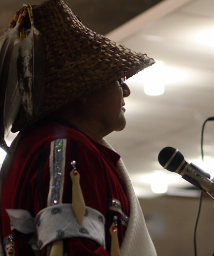 """Our people stand so proud, just for the mere fact that we have survived for so long,"" Lekeyton Antone, a member of the Kwantlen First Nation, told the crowd before a dinner of smoked salmon began."" We're also trying to make sure that our next generations coming have a better way than we did. It's all about people working together and it's all about who we are and what our beliefs are."""