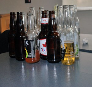 More than a handful of drinks were already consumed by 2 p.m. at Richmond campus' licensing event. (Kristi Jut photo)