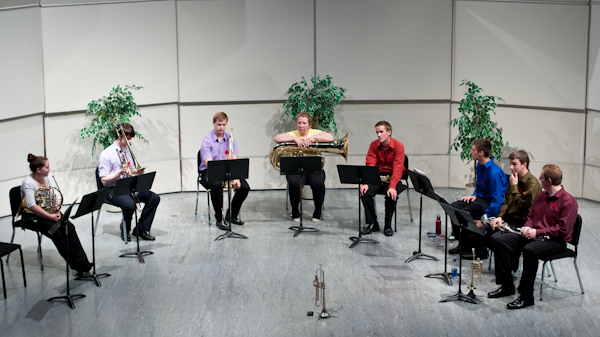Kwantlen's brass ensemble